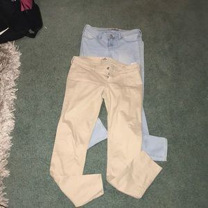 Two pairs of holister pants new